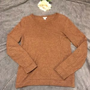 J.Crew brown scoop-neck sweater